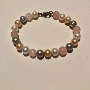 Jewelry - AUTHENTIC MULTI COLOR PEARL BRACELET SILVER CLASP